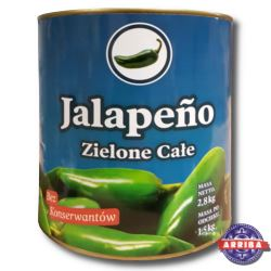 Jalapeno Chili Całe 2800g ARRIBA