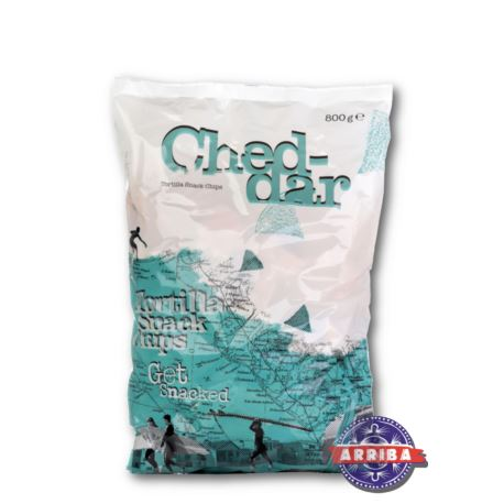 Tortilla Nacho Snack Chips 800g Cheddar