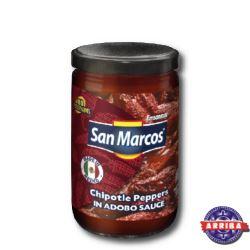 Chipotles Adobados 230g (szkło) San Marcos